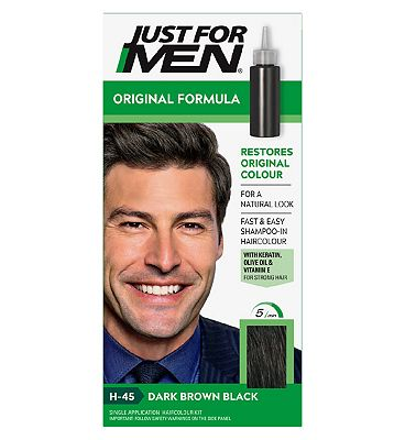 Just For Men Hair Colourant, Natural Dark Brown Black