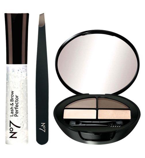 No7 Its a Brow Thing;No7 Lash & Brow Perfector;No7 Lash & Brow Perfector;No7 Slanted Tweezers;No7 Slanted Tweezers;No7 brow kit light;The No7 Beautiful Eyebrow Kit