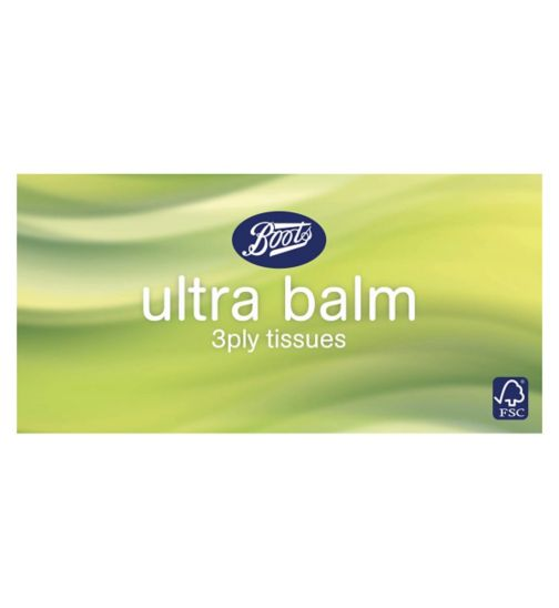 Boots Ultra Balm 80x3ply Regular Tissues