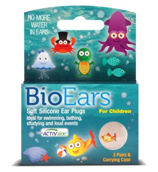 BioEars Soft Silicone Ear Plugs For Children