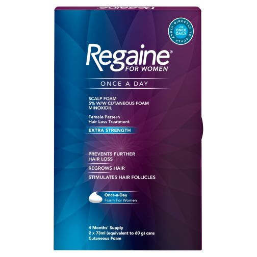 Regaine for Women Once a Day Scalp Foam 5% w/w Cutaneous Foam - 4 Months' Supply
