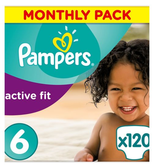 Pampers Active Fit Size 6 Monthly Saving Pack 120 Nappies