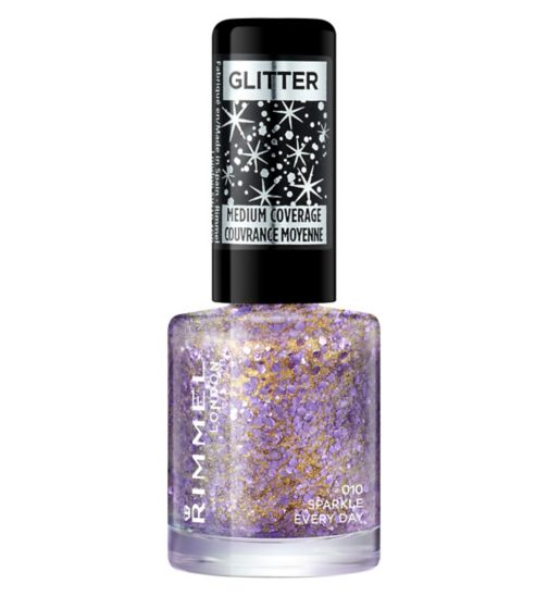 Rimmel London Glitter Medium Coverage Nail Polish