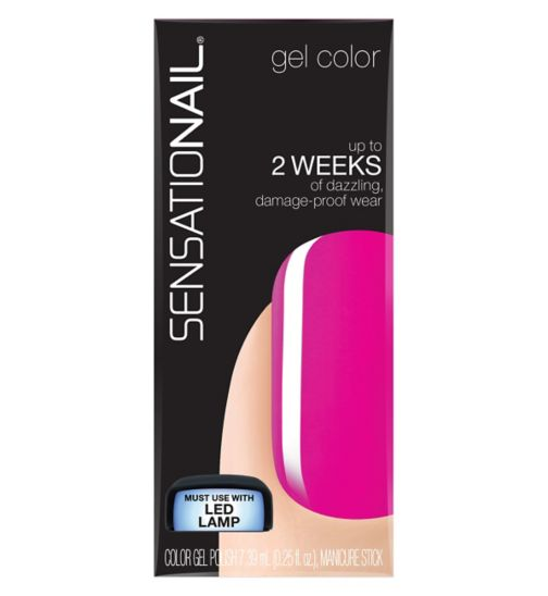 SensatioNail Gel Polish Pink Hibis Kiss