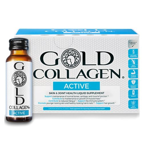 Active Gold Collagen 10 Day Programme Food Supplement 10 x 50ml bottles