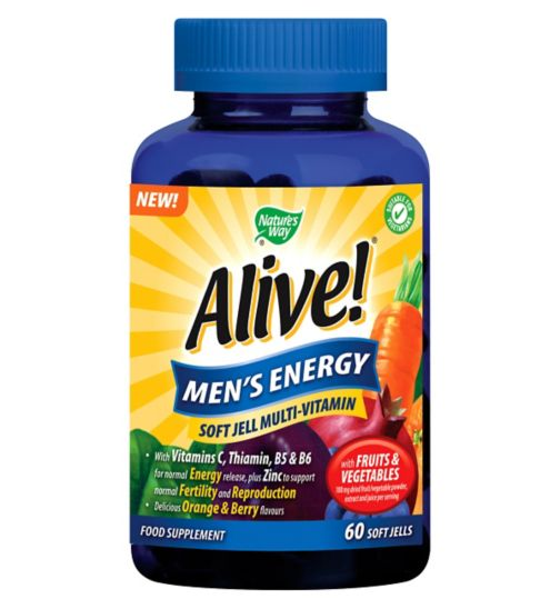 Nature's Way Alive! Men's Energy - 60 Soft Jells