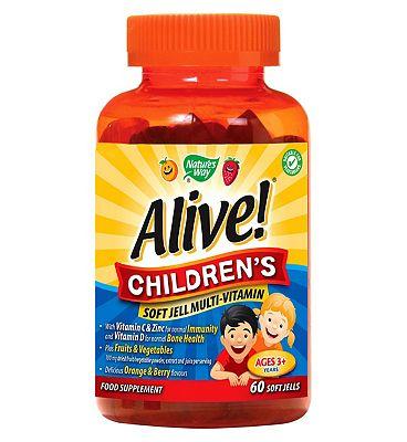 Nature's Way Alive! Children's - 60 Soft Jells