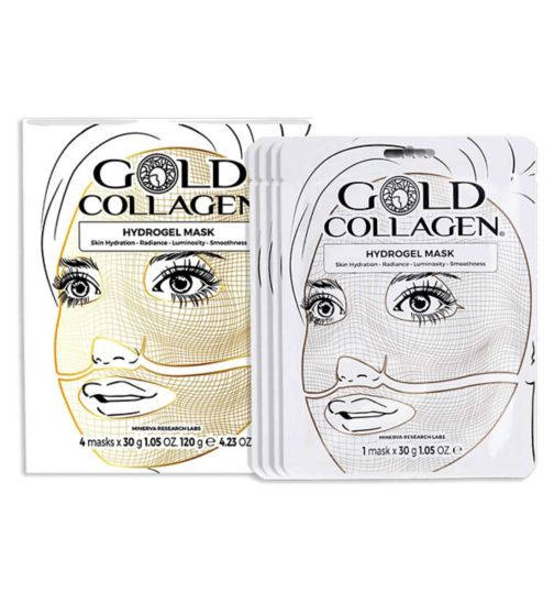 Gold Collagen Hydrogel Face Masks  - 4 masks