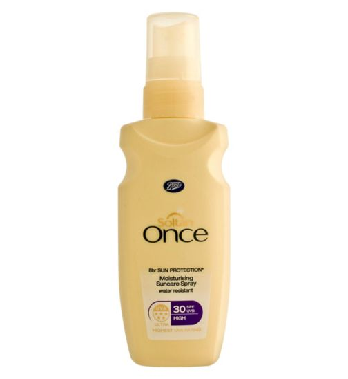 Soltan Once 8 Hour Sun Protection Moisturising Suncare Spray SPF30 75ml