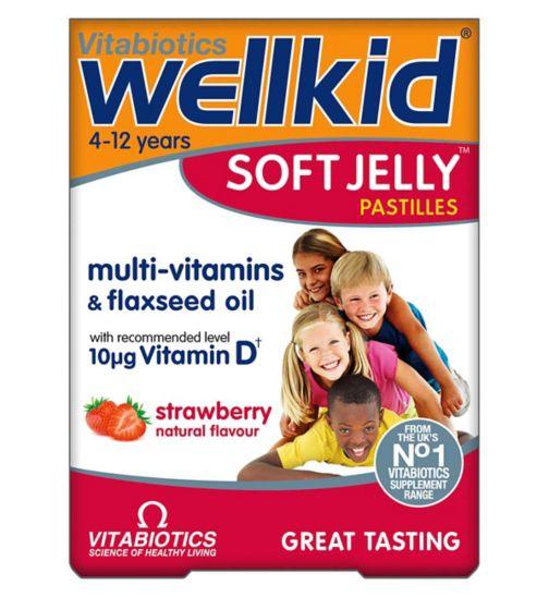 Vitabiotics WellKid Soft Jelly Strawberry Flavour - 30 Pastilles
