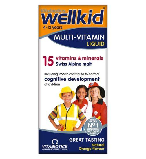 Vitabiotics Wellkid 4-12 Years Multi-Vitamin Liquid 150ml
