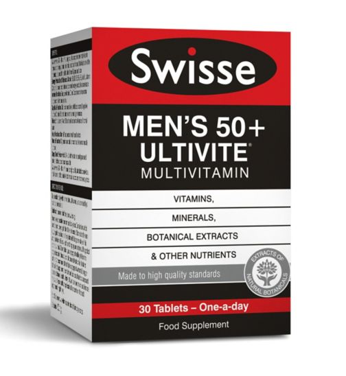 Swisse Men's Ultivite 50+ Multivitamin - 30 tablets