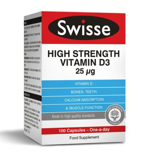 Swisse Ultiplus High Strength Vitamin D3 25μg - 100 Capsules