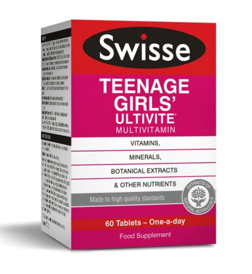 Swisse Ultivite Teenage Girls' Multivitamin - 60 tablets