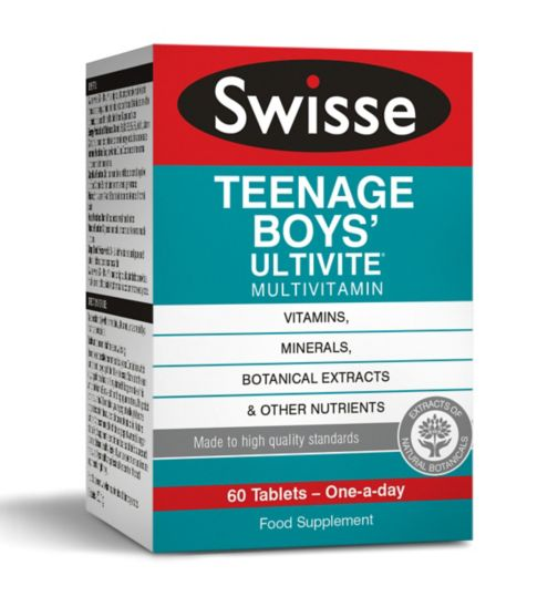 Swisse Ultivite Teenage Boys' Multivitamin - 60 tablets