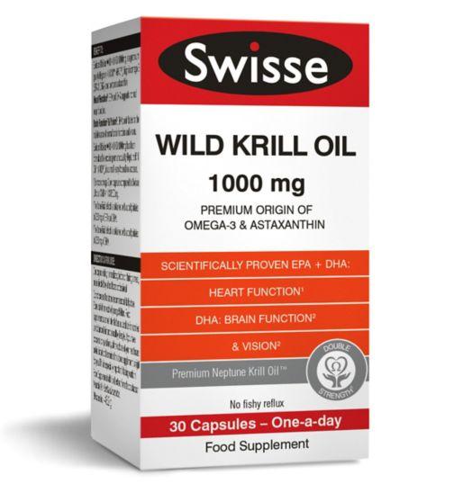 Swisse Wild Krill Oil 1000mg - 30 Capsules
