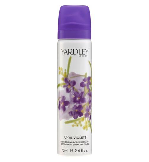Yardley London April Violets Body Spray 75ml