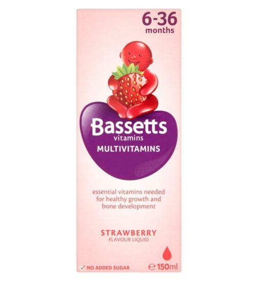 Bassetts Multivitamins Strawberry Flavour Liquid 6-36 Months - 150ml