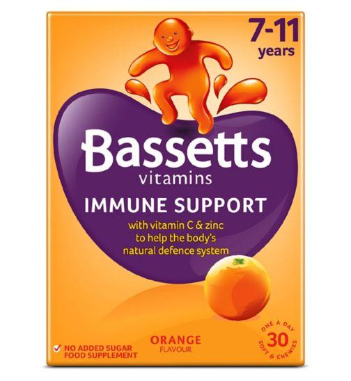 Bassetts Multivitamins Orange Flavour Soft & Chewies 7-11 Years - 30 Pack