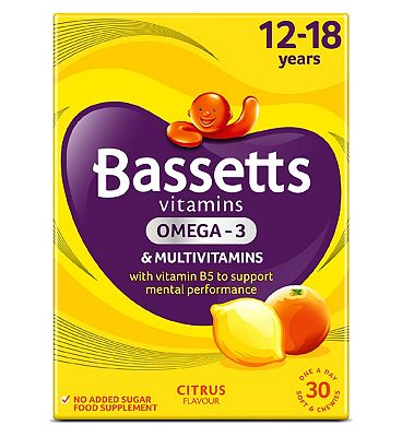 Bassetts Multivitamins Citrus Flavour Soft & Chewies 12-18 Years - 30.