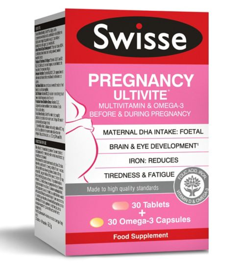 Swisse Ultivite Pregnancy Multivitamin - 30 Tablets + 30 Omega-3 capsules