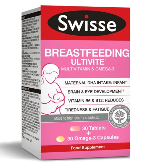 Swisse Breastfeeding Ultivite Multivitamin - 30 Tablets + 30 Omega-3 Capsules