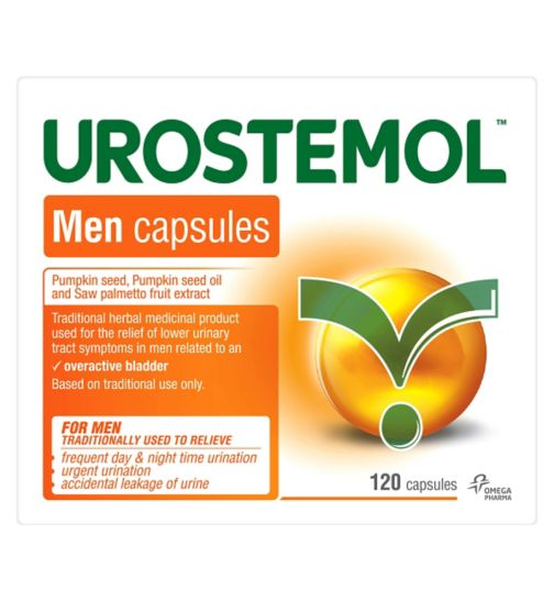 Urostemol Men Capsules - 120 capsules - Exclusive to Boots