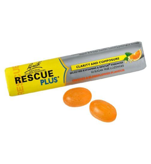 Bach Rescue Remedy Plus Orange & Elderflower  - 10 Lozenges
