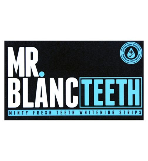Mr. Blanc Teeth Whitening Strips - 14 Sachets (each contains an upper strip & lower strip)