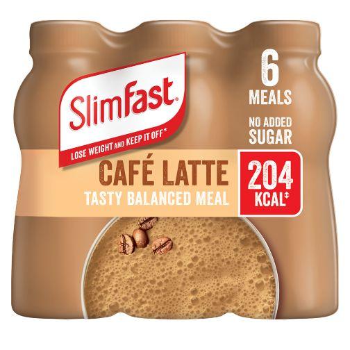 SlimFast Café Latte Flavour Shake 6 x 325ml (1.95L)