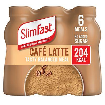 SlimFast Caf Latte Flavour Shake 6 x 325ml (1.95L)