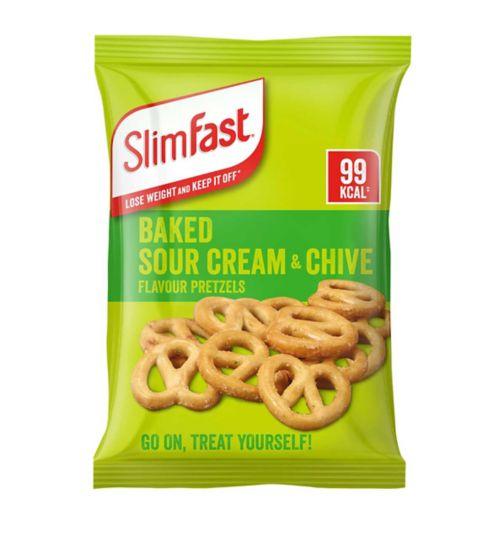 SlimFast Sour Cream & Chive Flavour Pretzels 23g
