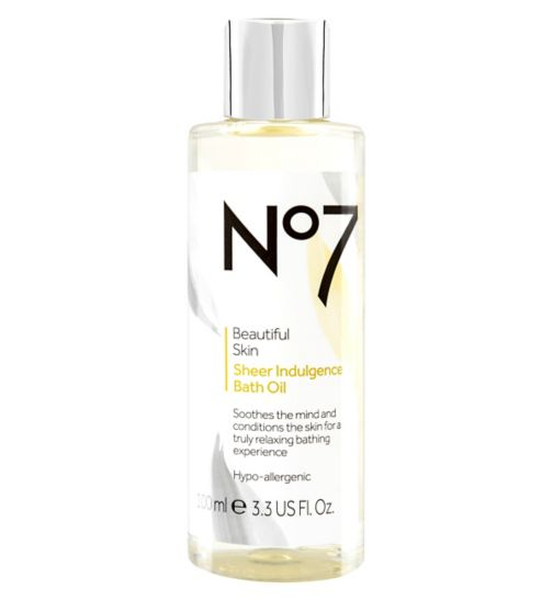 No7 Beautiful Skin Sheer Indulgence Bath Oil