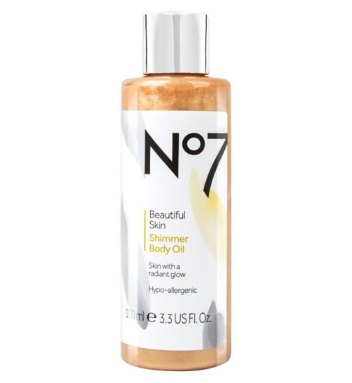 No7 Beautiful Skin Shimmer Body Oil
