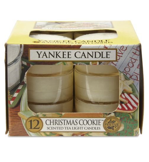 Image result for yankee candle christmas cookie tea lights