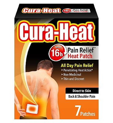 Cura-Heat Direct to Skin Back and Shoulder Pain Relief Patch (7 Patches)