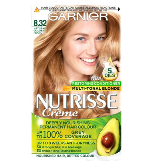 Garnier Nutrisse Crème Permanent Hair Colour 8.32 Natural Gold Pearl