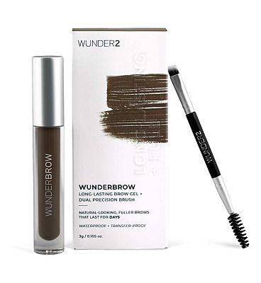 WUNDER2 WUNDERBROW Extra Long-Lasting Eyebrow Gel Black/Brown