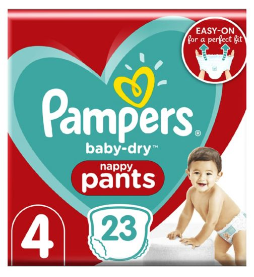 Pampers Baby-Dry Pants Size 4, 8-14Kg, 23 Nappy Pants