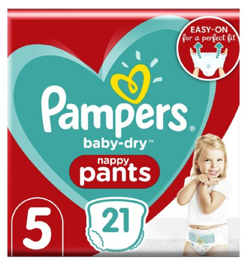 Pampers Baby-Dry Pants Size 5, 11-18Kg, 21 Nappy Pants