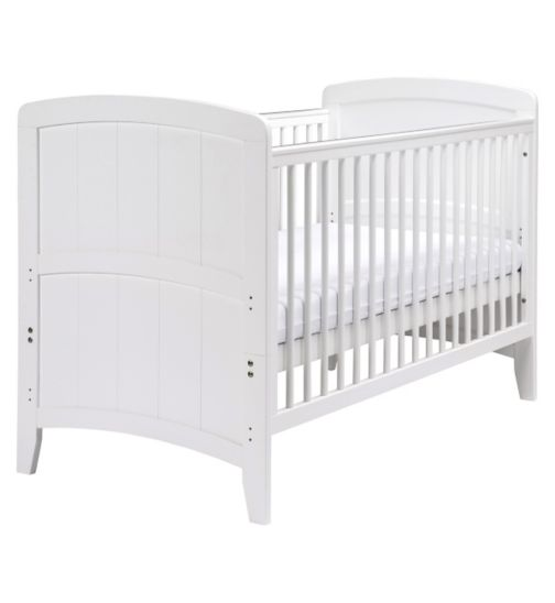 East Coast Venice White Cot bed