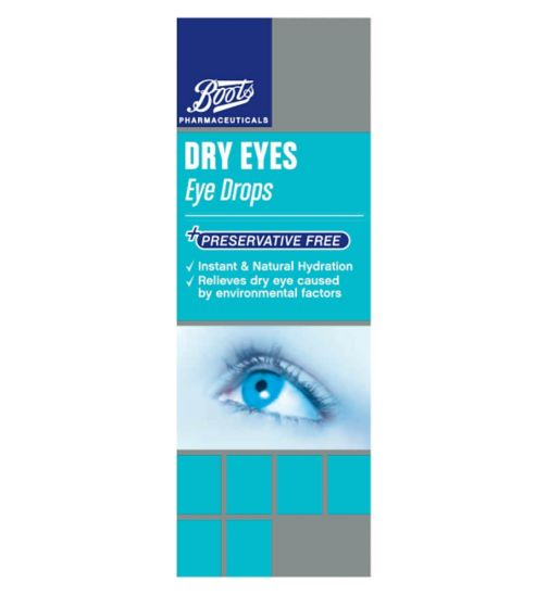 Boots Pharmaceuticals Preservative Free Dry Eyes Eye Drops