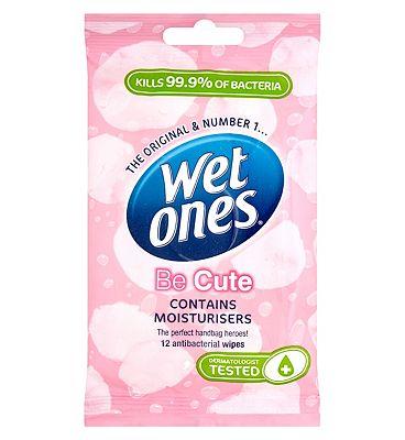 Wet Ones Be Cute Delicate Antibacterial Wipes 12