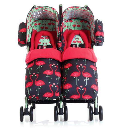 Cosatto Supa Dupa Twin Stroller Flamingo Fling