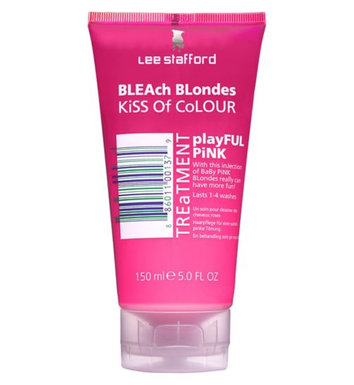 Lee Stafford Bleach Blondes Kiss Of Colour Playful Pink Treatment 150ml
