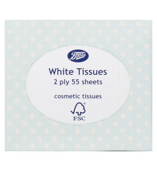 Boots White Cosmetics Tissues Cube Polka Dot