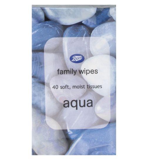 Boots Family Wipes Aqua x 40
