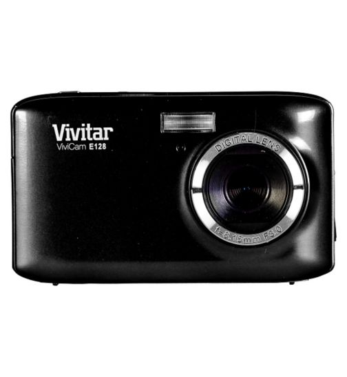 Vivitar VE128 Black (18mp, 2.7 Inch Screen 4x Digital Zoom) Camera