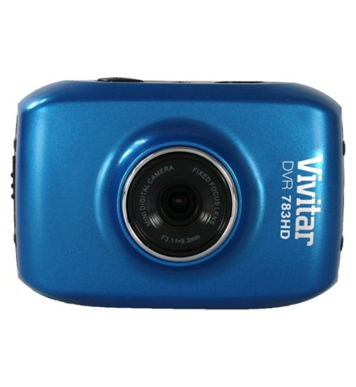 Vivitar DVR783HD, 5mp, 1.8inch LCD Action Cam - Blue
