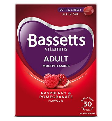 Bassetts Adult Multivitamins Raspberry & Pomegranate Flavour 30 Pastilles